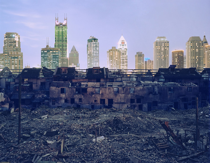 Greg Girard, Shanghai Falling (Fuxing Lu Demolition), 2002.