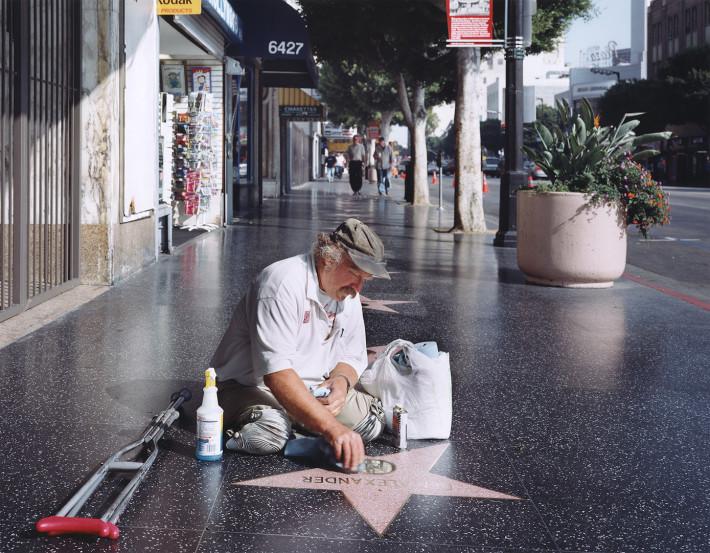 Juliana Sohn, Legless Star Cleaner on the Hollywood Walk of Fame, 2005.