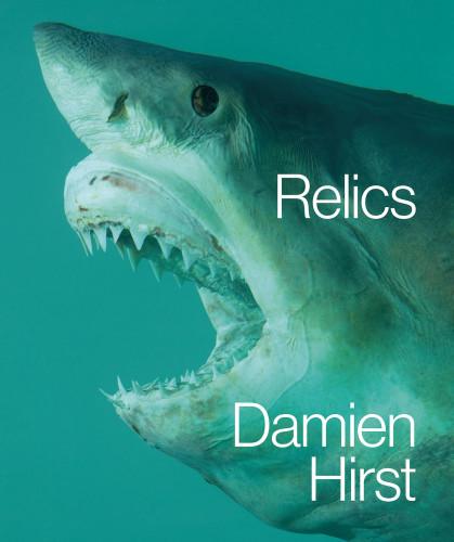 Copertina del catalogo Relics, Damien Hirst pubblicato in occasione della mostra a Doha, Qatar 2013.