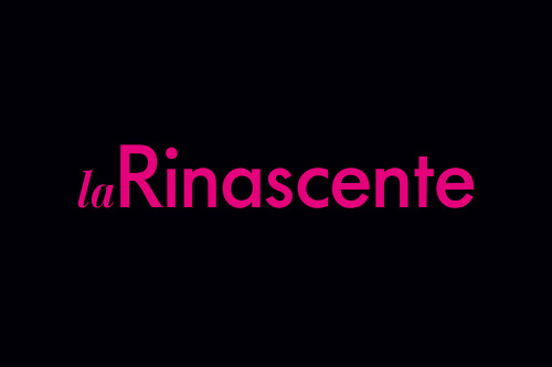 Redesign logotipo La Rinascente, 2006.