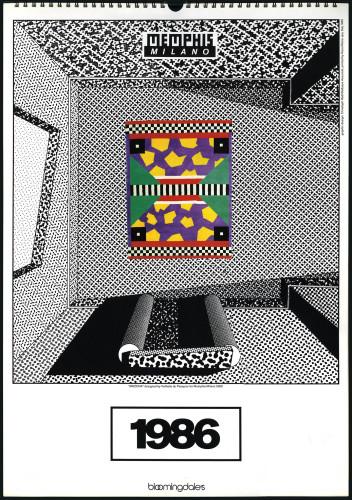 Calendario Memphis per Bloomingdales, 1985.