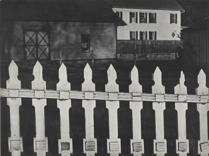 Paul Strand, White Fence, Port Kent, New York, 1916. © Paul Strand Archive, Aperture Foundation.