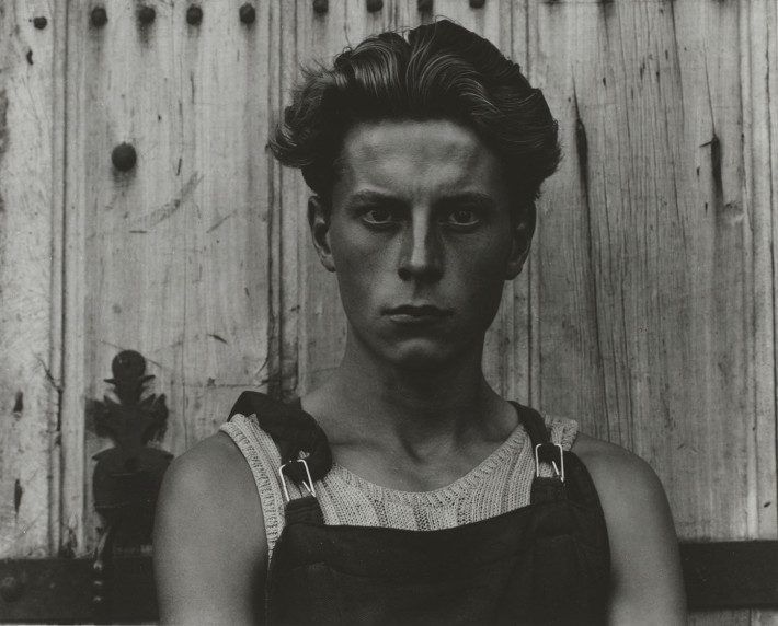 Paul Strand, Young Boy, Gondeville, Charente, France, 1951.