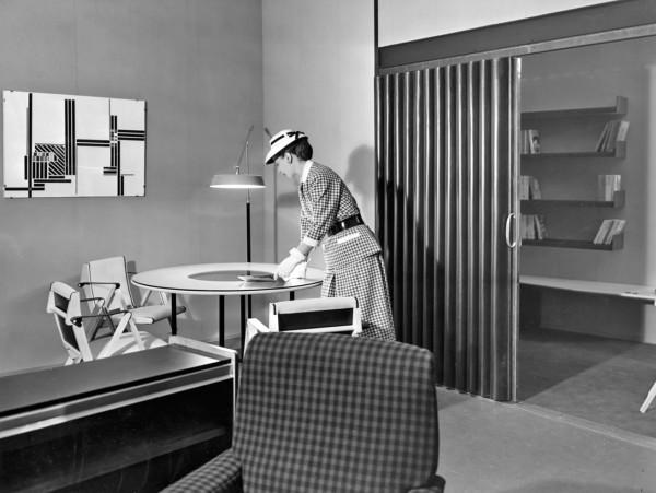 Alloggio n. 7 progettato da Marco Zanuso ed esposto alla Mostra dell'abitazione alla IX Triennale di Milano del 1951.