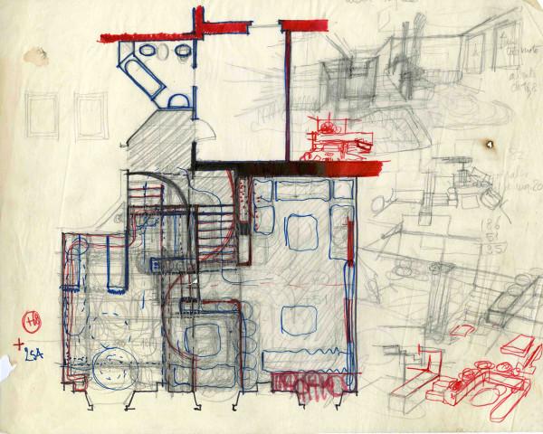 Appartamento piazzetta Bossi, 1968.