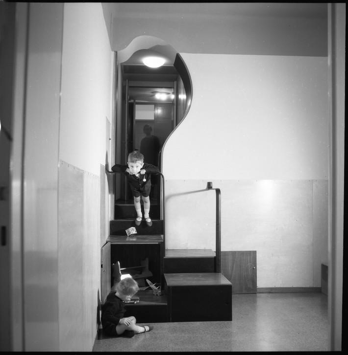 Appartamento in via Goito, 1953 - 1958/59. © Università Iuav di Venezia - Archivio Progetti, fondo Giorgio Casali. Foto: Giorgio Casali.