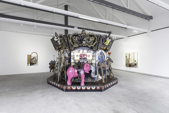 Edward & Nancy Reddin Kienholz, The Merry-Go-World or Begat By Chance and the Wonder Horse Trigger, 1991-94.