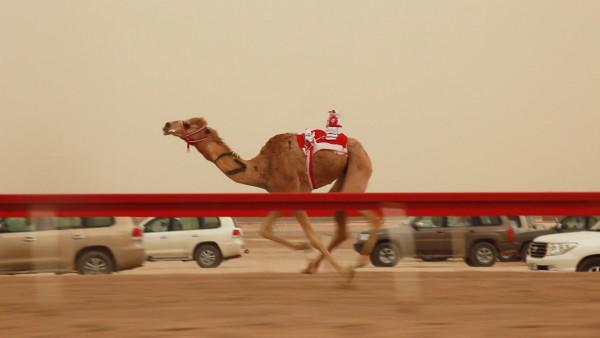 """Francesco Jodice, Dubai_Citytellers, film still_#007. Film, HD, 57' 45"""", 2010."""