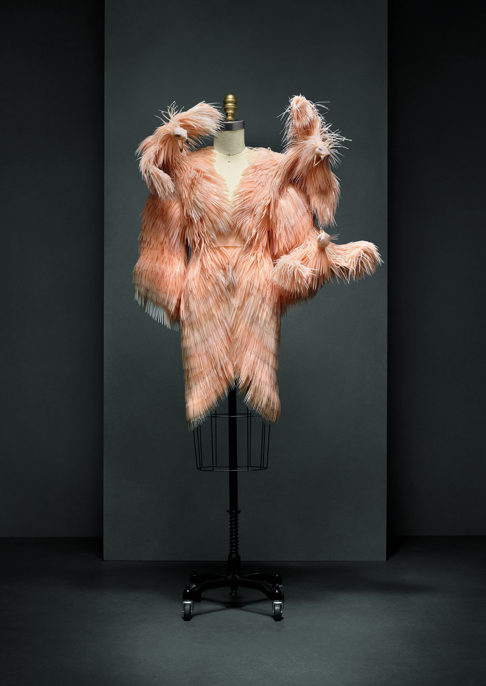 Dress, Iris van Herpen (Dutch, born 1984), autumn/winter 2013– 14. The Metropolitan Museum of Art, Purchase, Friends of The Costume Institute Gifts, 2015. Courtesy: of The Metropolitan Museum of Ar.
