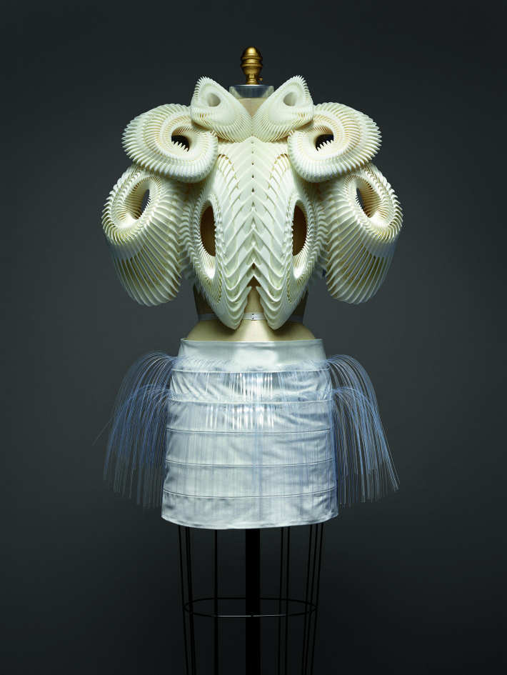 Ensemble, Iris van Herpen, spring/summer 2010. The Metropolitan Museum of Art, Purchase, Friends of The Costume Institute Gifts, 2015. Courtesy: The Metropolitan Museum of Art.