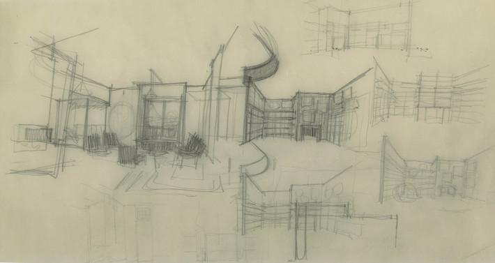Appartamento in via Bellini, 1953. © Archivio Studio Magistretti - Fondazione Vico Magistretti.
