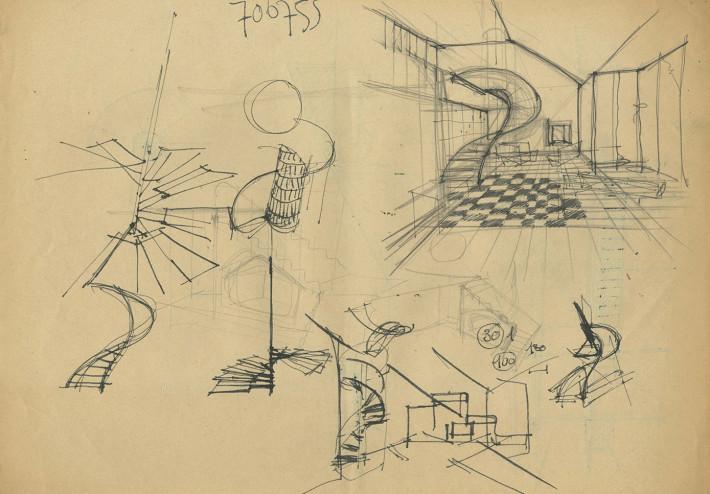 Appartamento in via Verri, 1953/54. © Archivio Studio Magistretti - Fondazione Vico Magistretti.