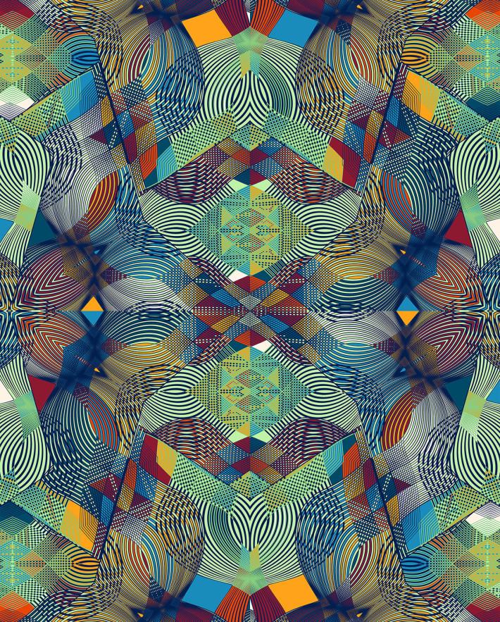 Vlisco, design by Francesca Franceschi; Textile, 5246/RW/3 Java, from the Think collection, 2015. © Vlisco Netherlands B.V.