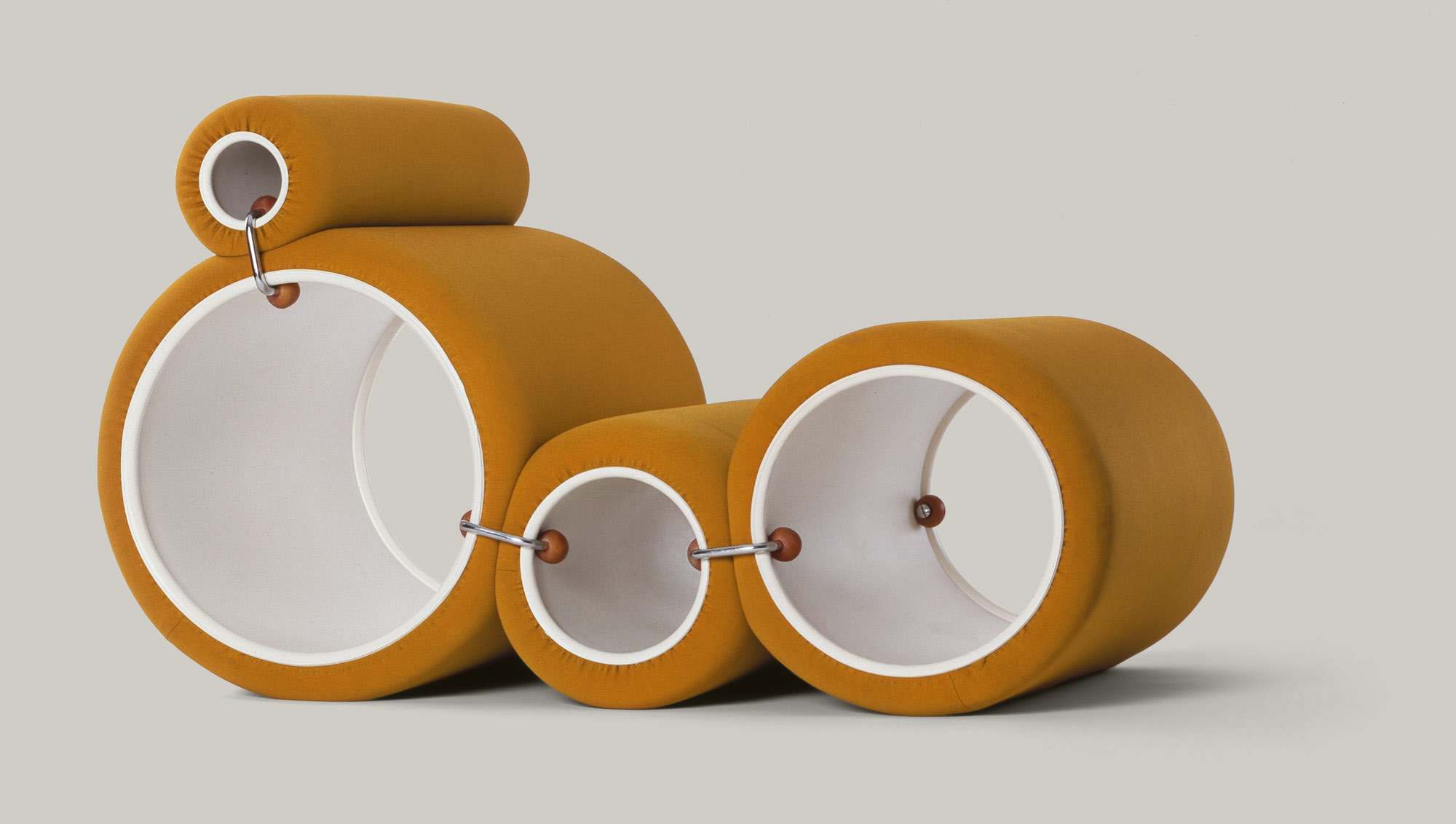 Tube Chair, Joe Colombo per Flexform, 1969-70.