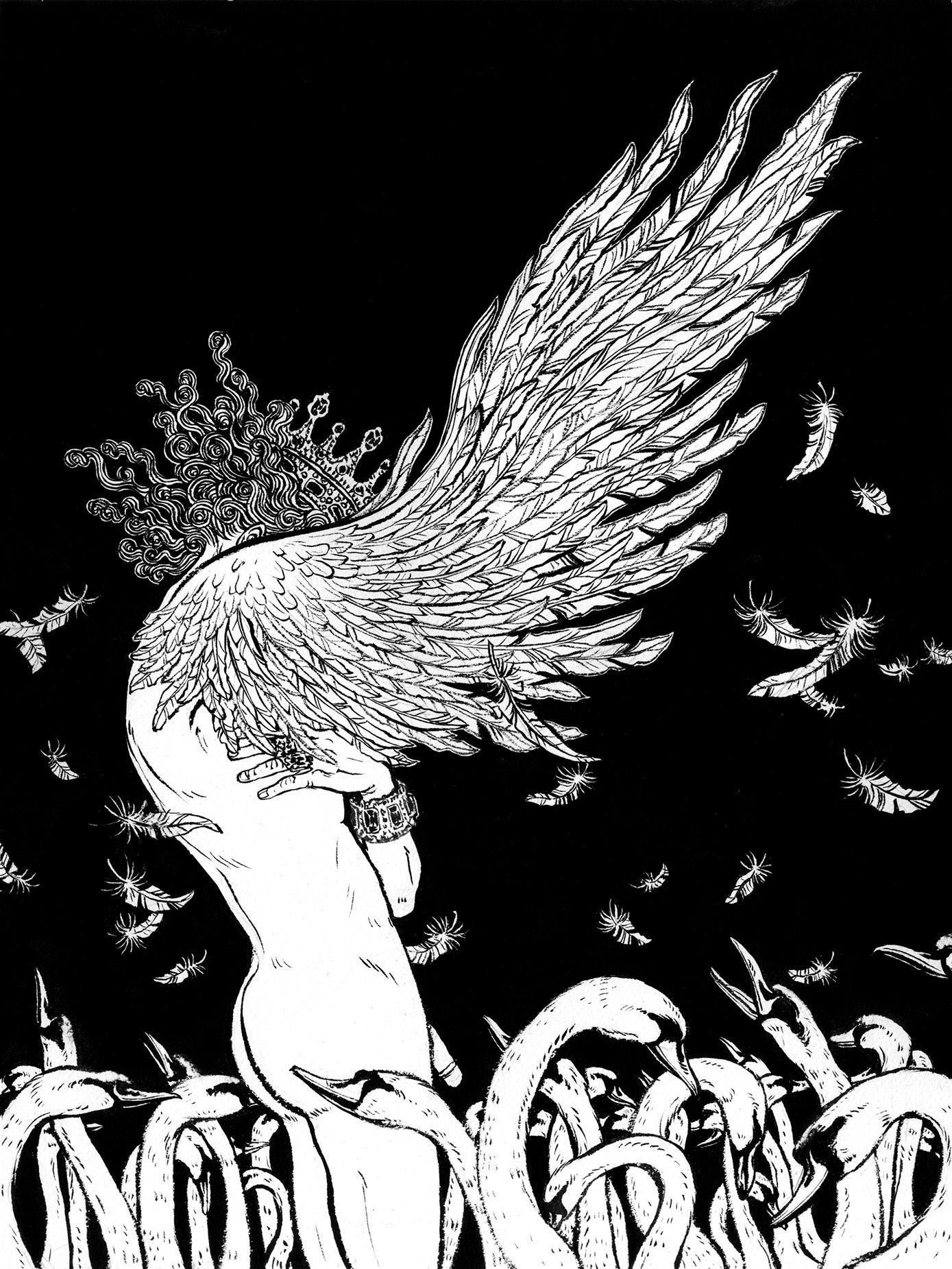A Wild Swan © 2015 Yuko Shimizu
