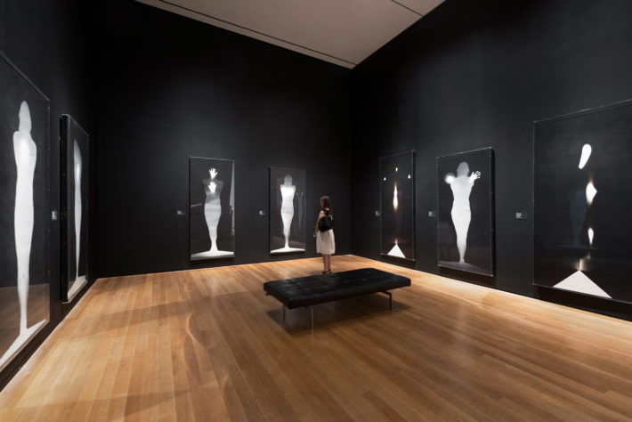 Installation view of BRUCE CONNER: IT'S ALL TRUE. The Museum of Modern Art, New York, July 3-October 2, 2016. © 2016 The Museum of Modern Art. Photo: Martin Seck.
