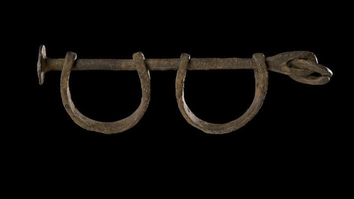 Shackles. Created by Unidentified. Before 1860. Collection of the Smithsonian National Museum.