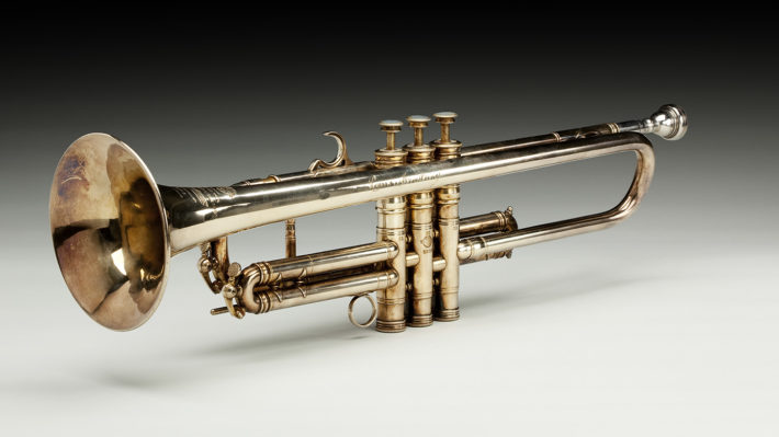 Trumpet owned by Louis Armstrong. September 1946. Collection of the Smithsonian National Museum of African American History and Culture.