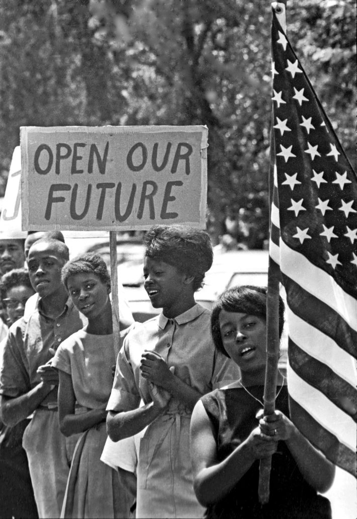 July 4 March through Chapel Hill. July 4, 1964. Created by James H. Wallace. Collection of the Smithsonian National Museum of African American History and Culture, Gift of James H Wallace Jr, © Jim Wallace.