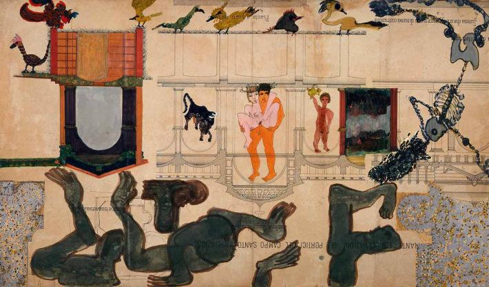Carol Rama, Seduzioni, 1985. Fondazione Guido ed Ettore de Fornaris Galleria d'Arte Moderna e Contemporanea di Torino. Foto: Rampazzi, 1989.