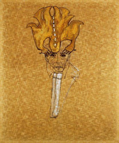 Carol Rama, Ritratto di Massimo Mila, 1984.