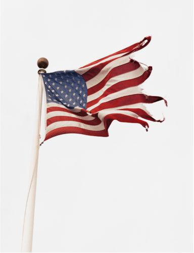 Flag at Snug Harbor, Montauk, N.Y., 2002. © Michael Dweck.
