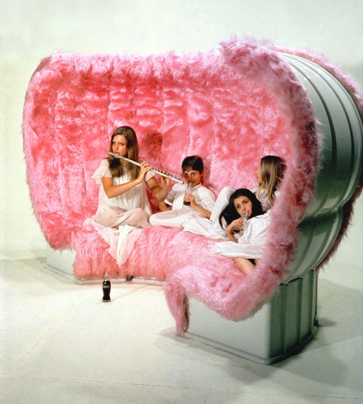 Superstudio, Bazaar, prodotto da Giovannetti, 1969, divano componibile. Foto: C. Toraldo di Francia.