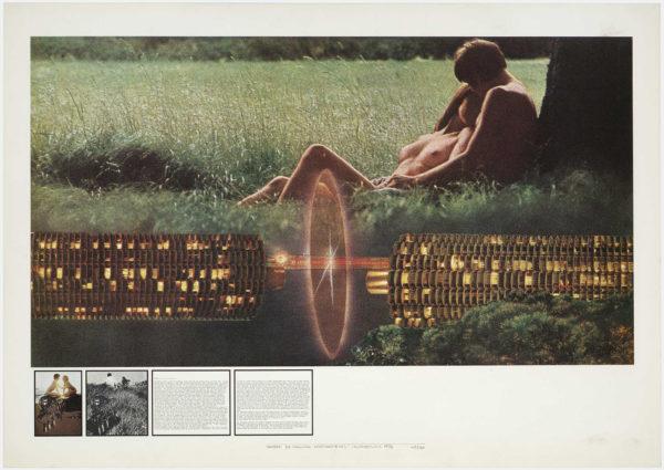 """Superstudio, """"Atti Fondamentali. Amore. La macchina innamoratrice"""", 1972, litografia."""