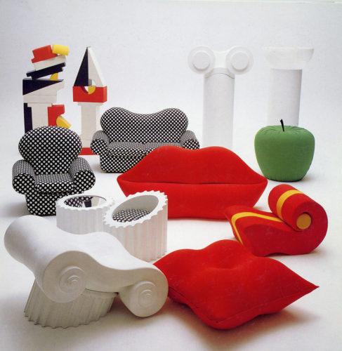 Collezione Gufram, allestimento in occasione dei 50 anni dell'azienda, nata nel 1966.