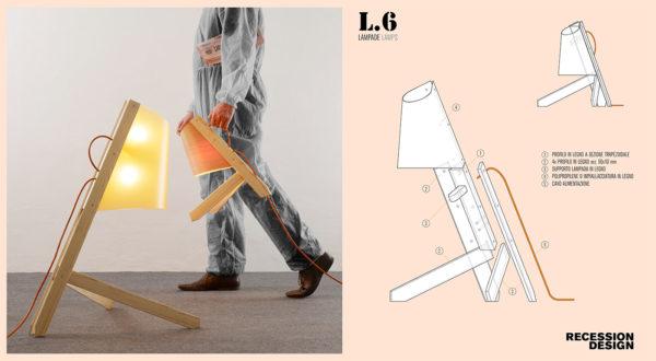 Lampada L6, design di Joran Zedrejcic, Recession Design, 2013.