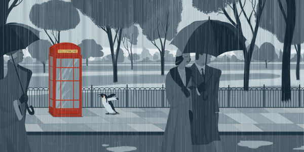 Emiliano Ponzi, The Journey of the Penguin, Penguin Books (USA), 2015.