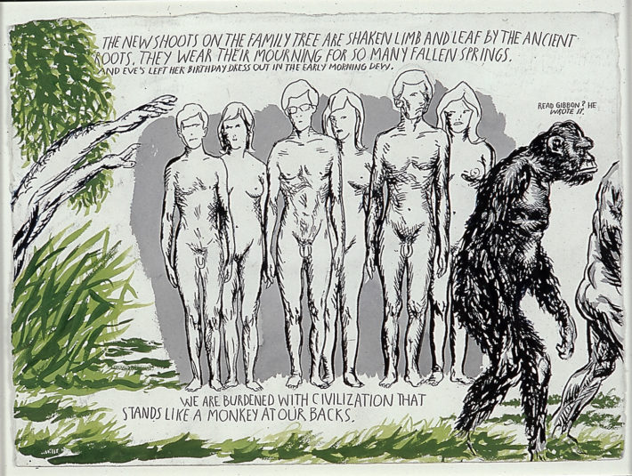 Raymond Pettibon, No Title (The new shoots), 2003. Courtesy: Sadie Coles HQ, London.
