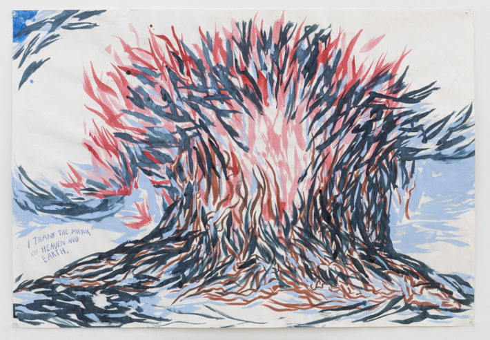 Raymond Pettibon, No Title (I thank the…), 2005. Courtesy: David Zwirner, New York.