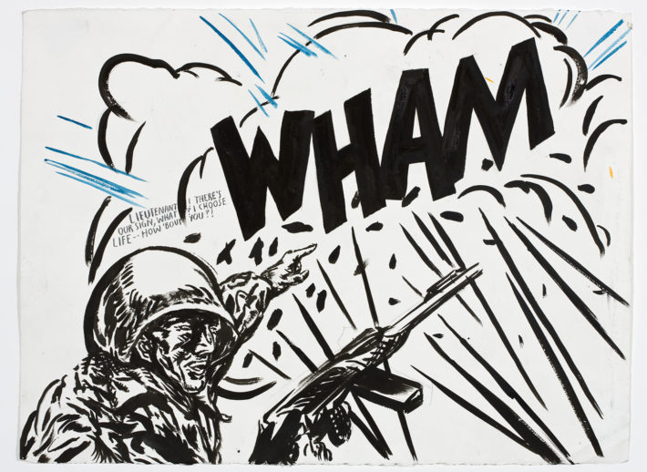 Raymond Pettibon, No Title (Lieutenant! There's our), 2008. Aishti Foundation, Beirut, Lebanon. Courtesy: Raymond Pettibon, and Regen Projects, Los Angeles.