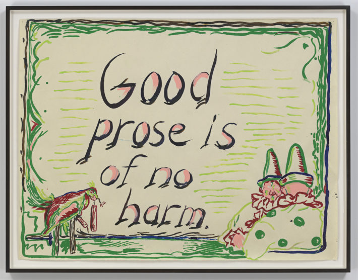 Raymond Pettibon, No Title (Good prose is…), 2013. Courtesy: David Zwirner, New York.