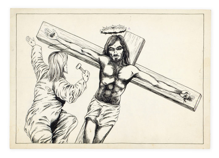 Raymond Pettibon, No Title (Jesus), 1979. Hauser & Wirth Collection, Switzerland. Courtesy: Archive Hauser & Wirth Collection, Switzerland.
