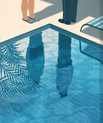 Emiliano Ponzi, Summer house with swimming pool, The New York Times (USA), 2014.