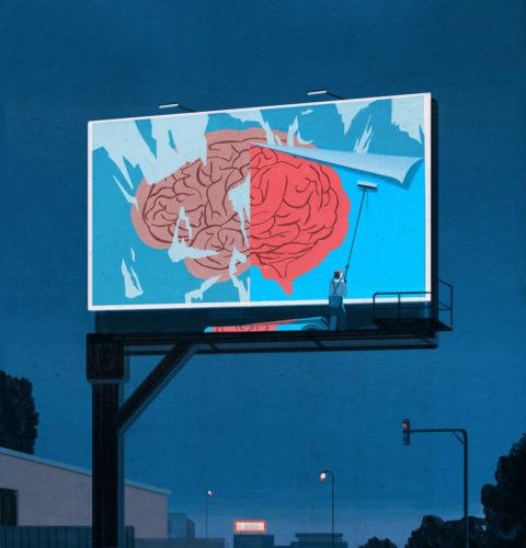 Emiliano Ponzi, Fixing the brain, New Scientist (UK), 2017.