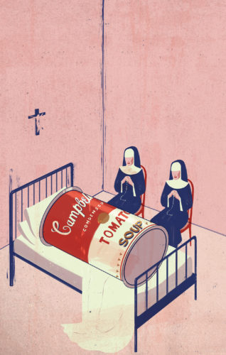 Emiliano Ponzi, The death of Postmodernism, Le Repubblica (Italy), 2012.