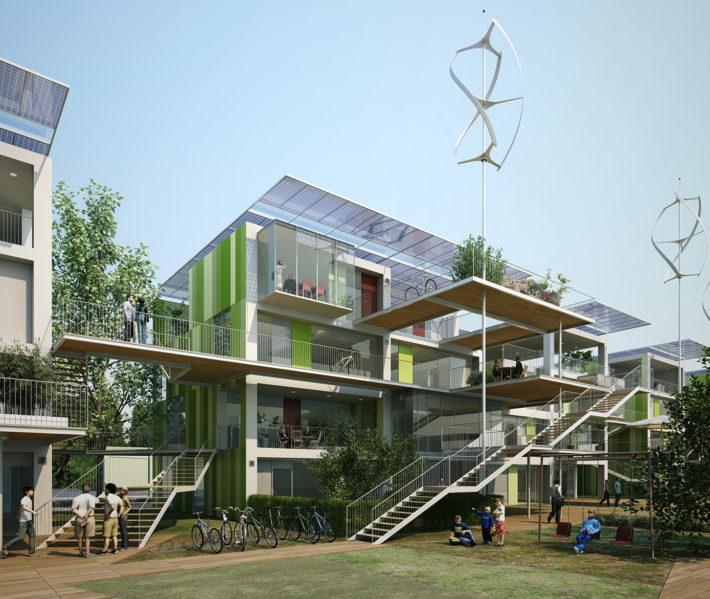 La Casa da 100 K €, 2007-2009. Progetto Mario Cucinella Architects.