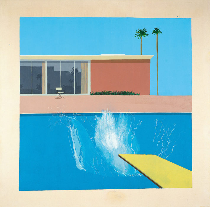 David Hockney, A Bigger Splash, 1967. Tate. Purchased 1981. © David Hockney.
