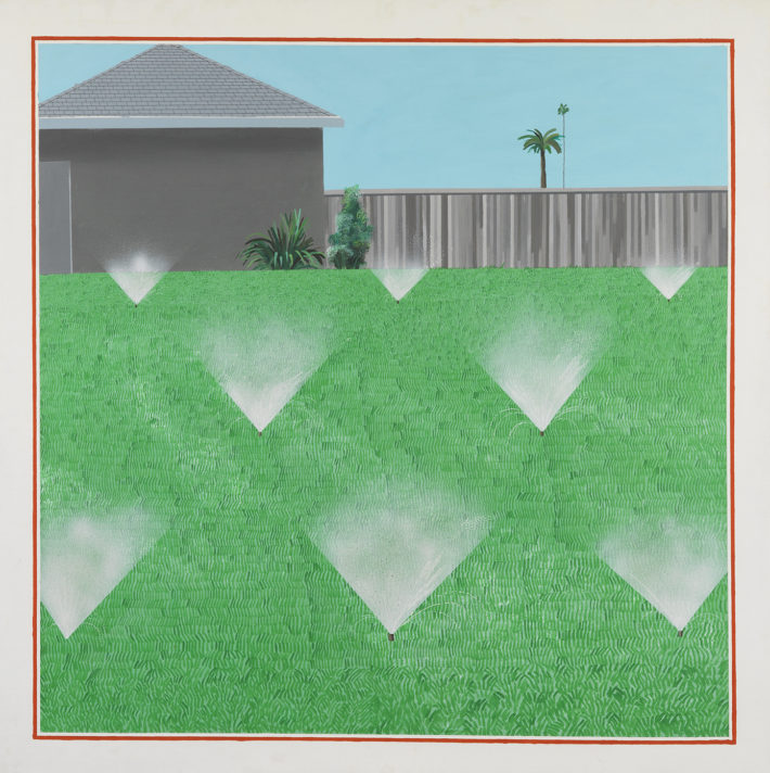 David Hockney, A Lawn Being Sprinkled, 1967.