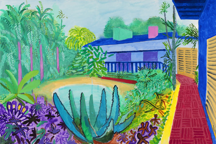 David Hockney, Garden 2015. © David Hockney Foto: Richard Schmidt.