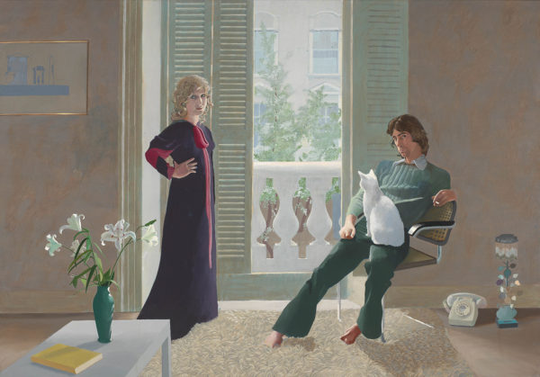 David Hockney Mr and Mrs Clark and Percy, 1970-71. Presented by the Friends of the Tate Gallery, 1971. © David Hockney.