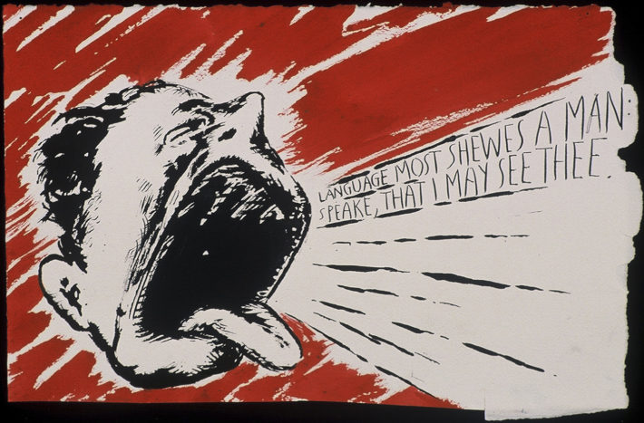 Raymond Pettibon, No Title (Language most shewes…), 2000. Private collection, Switzerland. Courtesy: Hauser & Wirth.