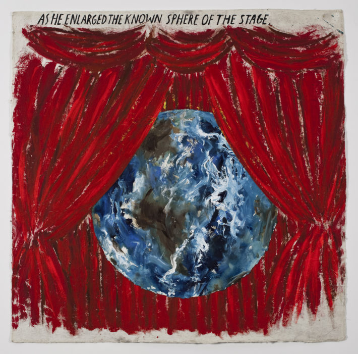 Raymond Pettibon, No Title (As he enlarged), 2009. Private collection, London. Courtesy: Sadie Coles HQ, London.
