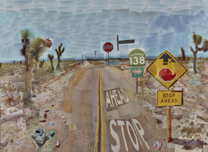 David Hockney, Pearblossom Hwy., 11-18th April 1986 #1, 