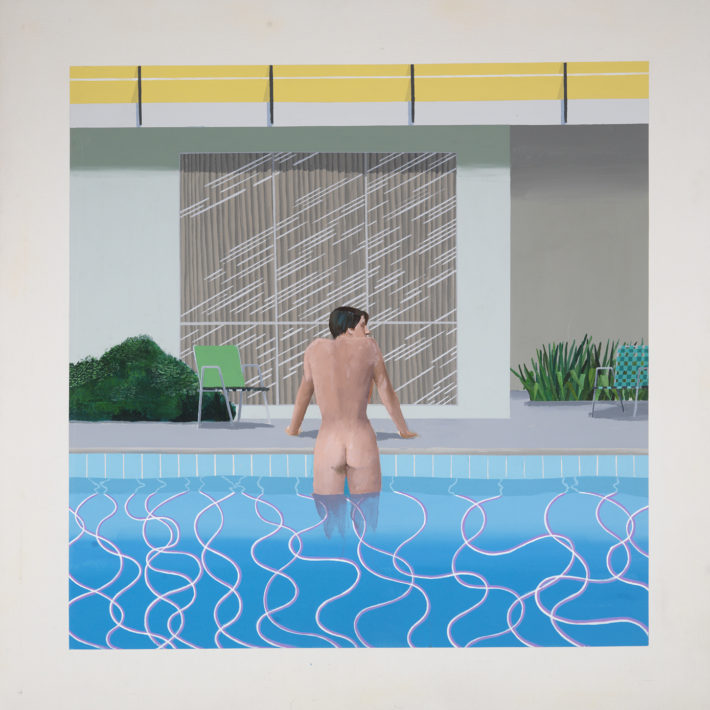David Hockney, Peter Getting Out of Nick's Pool, 1966. National Museums Liverpool, Walker Art Gallery. © David Hockney
