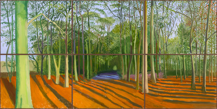 David Hockney, Woldgate Woods, 6 & 9 November 2006, 2006. David Hockney Inc. (Los Angeles, USA). © David Hockney.