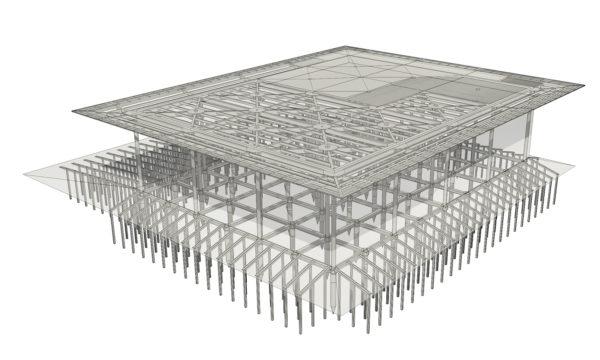 BIM per struttura complessa in acciaio e vetro. Progetto realizzato da Magnoli & Partners.